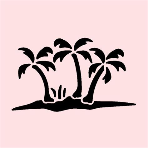 Palm Tree Stencil Outline by Palm Trees Stencil Palms Plant Tree Stencils Craft Template New 7 Quot X 5 Quot Ebay