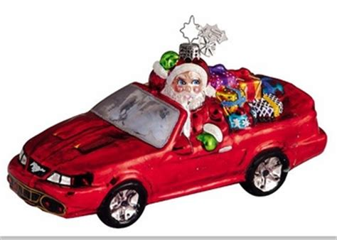 christopher radko ford mustang christmas ornament