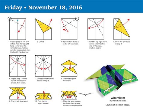 How To Fold Paper Airplanes Step By Step - image gallery 2016 airplane calendars