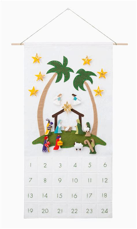 pattern for felt nativity advent calendar nativity advent calendar pattern wool felt christmas