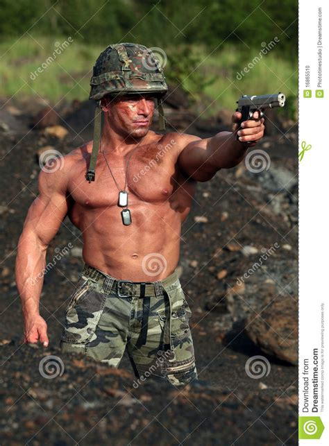 A Soldiers soldier in stock photo image of fight fighting