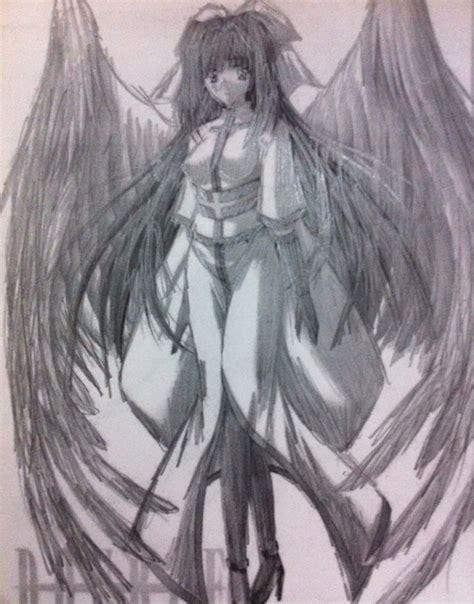 imagenes a lapiz de angeles dibujo a lapiz de un angel de un anime merida