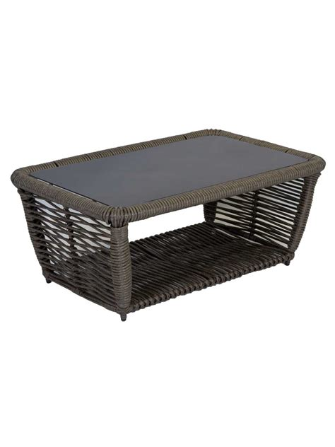 white outdoor coffee table furniture resin wicker outdoor coffee table