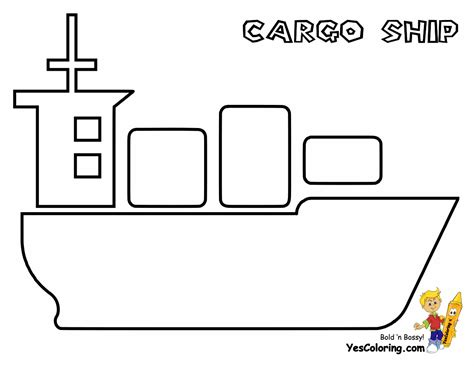 how to draw a cargo boat mega tanker ship printables supertankers free cargo