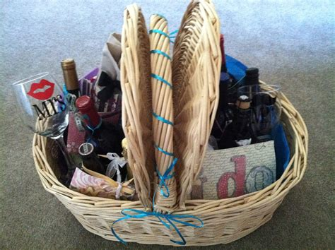 bridal shower gift baskets year of marriage wine basket poem destination anywhere everywhere