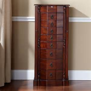 walnut 8 drawer jewelry armoire visual bookmark 12349
