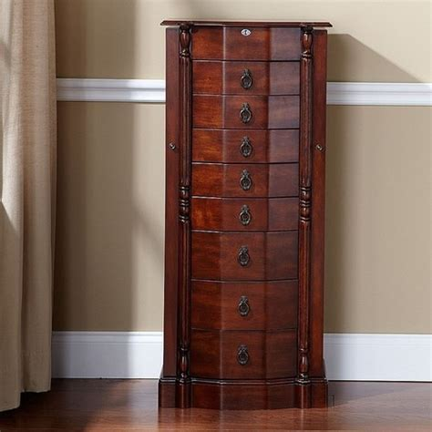 8 drawer jewelry armoire walnut 8 drawer jewelry armoire visual bookmark 12349