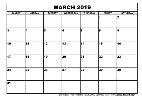 printable calendar for 2019 march 2019 calendar april 2019 calendar