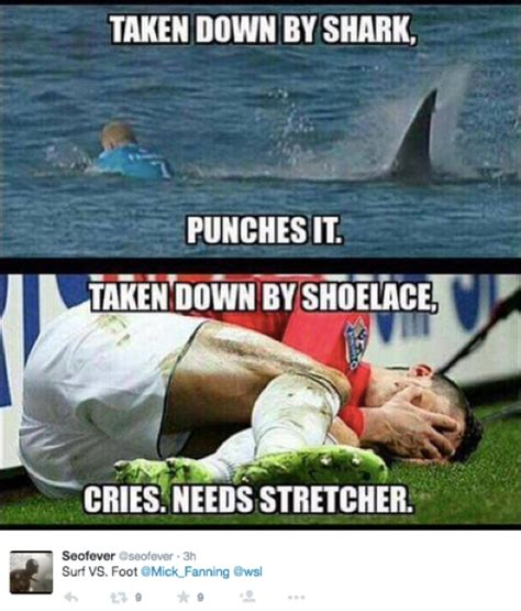 Shark Attack Meme - the 18 best mick fanning shark memes all in one place