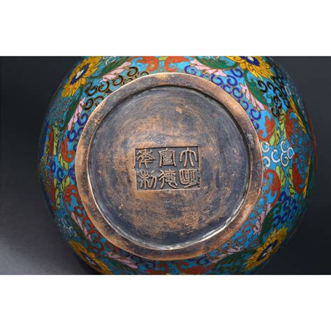 Japanese Vases For Sale Chinese Bronze Cloisonne Vase Xuande Mark