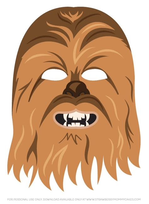 printable chewbacca mask 17 best images about star wars printables on pinterest
