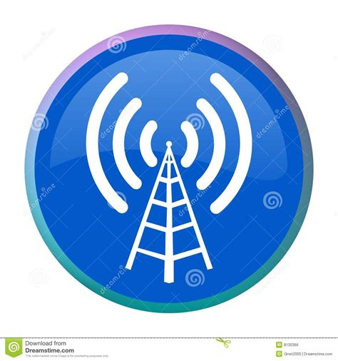 radio antenna web button royalty free stock image image 8130366