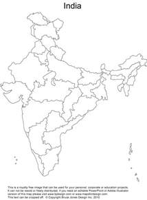 Blank Outline Political Map Of India india blank political map