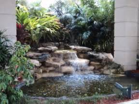 small pond waterfall