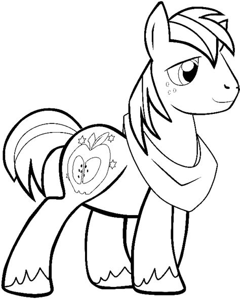 easy pony coloring pages how to draw big mac from my little pony friendship is