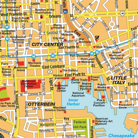 map usa baltimore map baltimore md city center maryland usa central