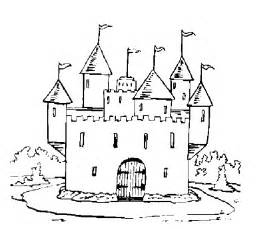 free sand castle coloring pages