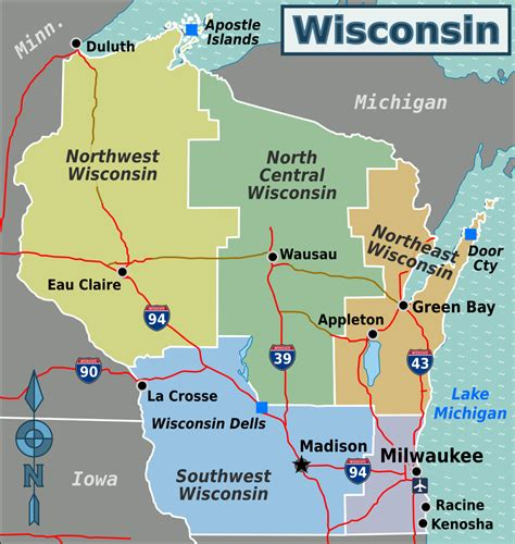 a map of wisconsin wisconsin travel guide at wikivoyage
