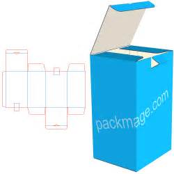 Packaging Folding Templates by Tuck Box With Locks 0002 Free Box Templates Store