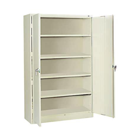 tennsco jumbo steel storage cabinet 5 shelves 78 h x 48 w