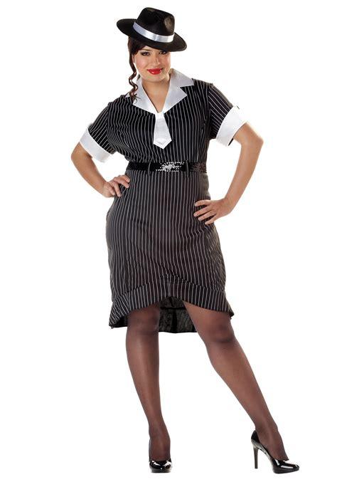 plus size gangster costume women women s plus size flirty gangster costume ebay