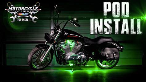 motorcycle led lights installation ledglow s motorcycle pod light installation