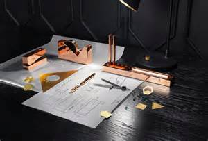 West Elm Desk Accessories Tom Dixon New Copper Stationary To Launch At Maison Amp Objet