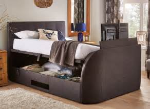 evolution slate tv ottoman bed dreams