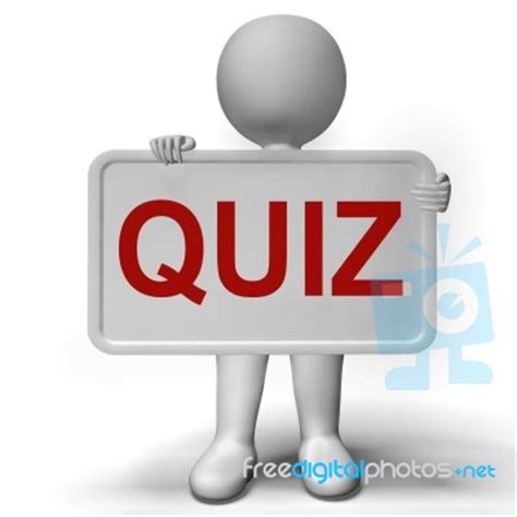 Image Quiz by Quiz Sign Meaning Test Or Examination Stock Image