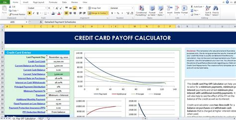 credit card calculator spreadsheet template credit card payoff calculator excel template excel tmp