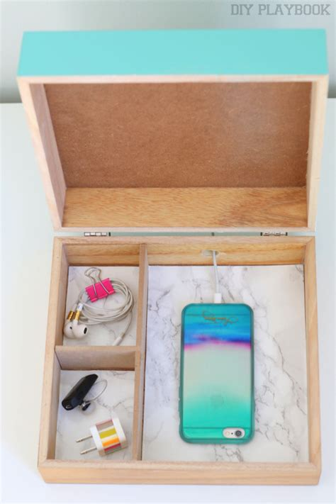 small charging station easy and stylish organizing 1 box 2 ways diy playbook