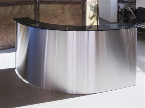 steel reception desk curving stainless steel reception desk glendon