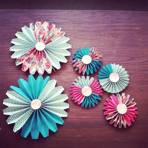 How To Make Decorative Paper - how to make paper fan decorations parenting living