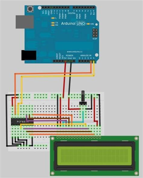 two wire i2c arduino lcd display circuit wiring diagrams