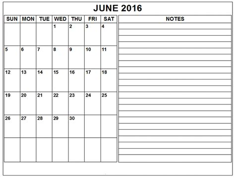 printable month calendar june 2016 june 2016 blank weekly calendar printable calendar templates