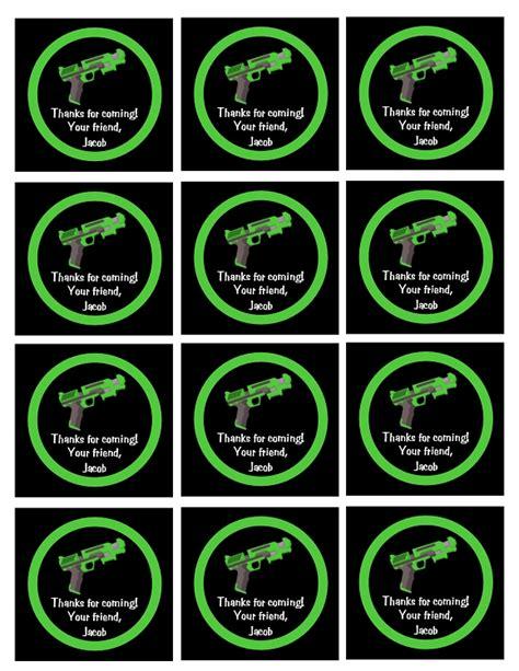 laser printable gift tags airsoft nerf gun laser tag invitations printable or