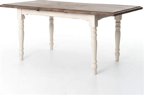cottage white extension dining room table 71 quot