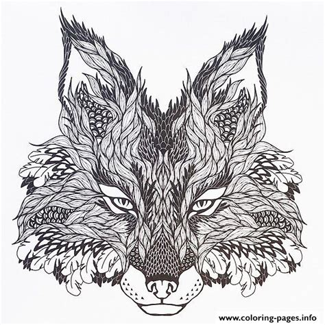 hard wolf coloring pages adults difficult animals wolf hd color coloring pages