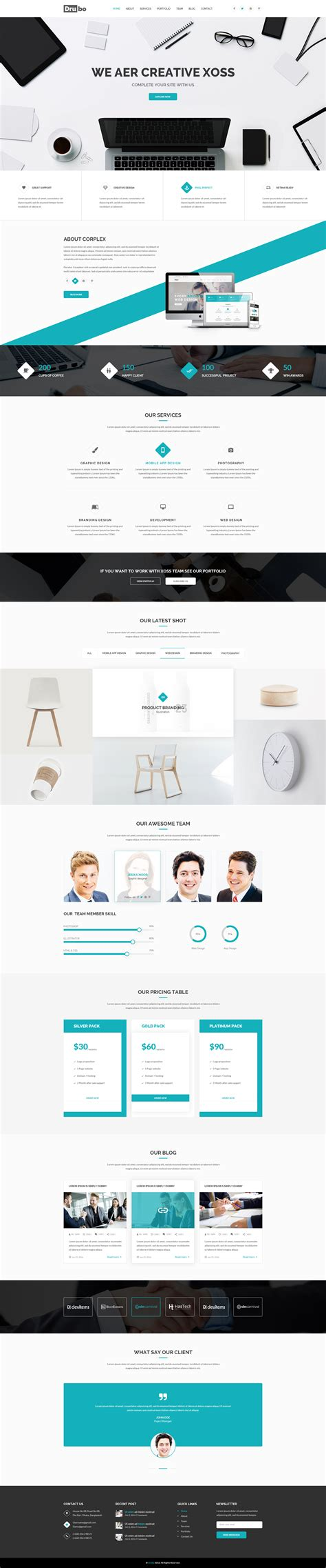 drubo corporate psd template by themes hub themeforest