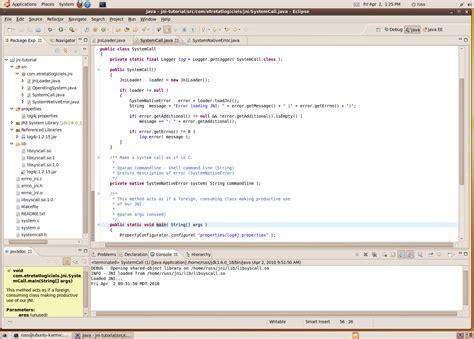 jni tutorial linux developing a java native interface jni