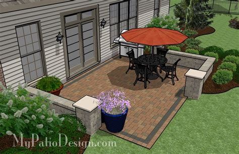 patio layout designs simple seating wall patio tinkerturf