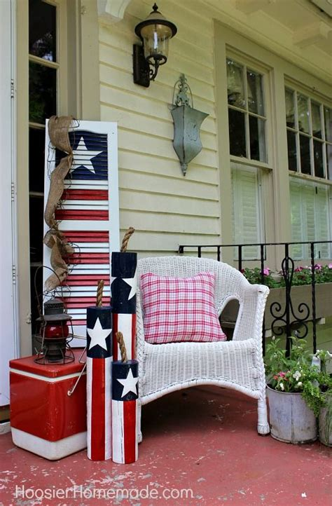 front porch 4th of july decorating ideas