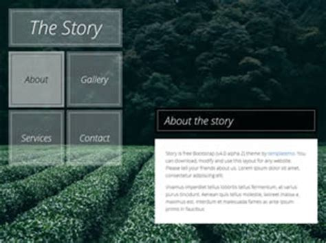story website themes the story free website template free css templates