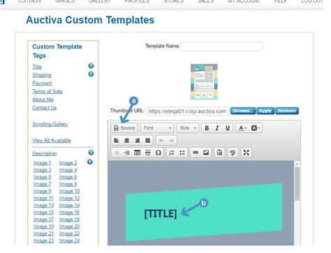 how to customize a listing template auctiva tutorials