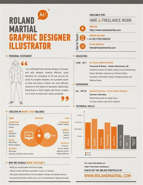 graphic design resume layout sles 30 great exles of creative cv resume design design