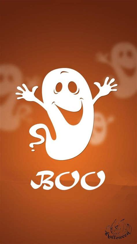 cute happy halloween boo ghost iphone  wallpaper
