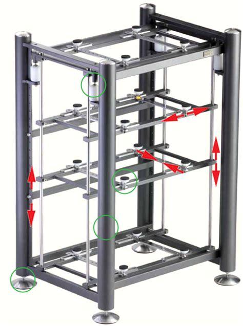 Cabinet Rack Sound System artesania exoteryc 4l shelfless decoupled rack
