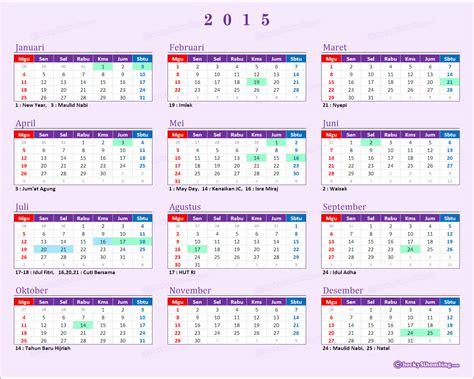 Lebaran Tahun 2015   kalender 2015 indonesia lengkap dengan libur nasional