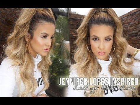 Jennifer Lopez Inspired High Half Pony   YouTube