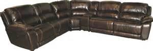u8532 6 leather power reclining sectional puritan